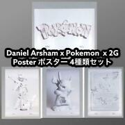 Daniel Arsham X Pokemon X 2g Poster Special Version Lot Of 4 From Japan