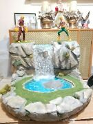 Custom Water Fall Diorama Includes 2 Iron Fist Marvel Legends And Custom Outfit