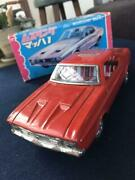 Ichiko Tin Plate Toy Car Vehicle 20 Cm Ford Mustang Mach 1 With Box Vintage Used
