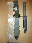 Usgi M 9 Bayonet Knife And Scabbard Ontario Engraved 101st A/b Unissued