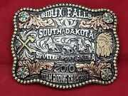 2010 Sioux Falls Sd. Team Roping Roping Trophy Buckle Champion Vintage☆rare☆874