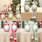 Christmas Owl Doll Faceless Decoration For Home Ornament Xmas Gift Gnome Knitted