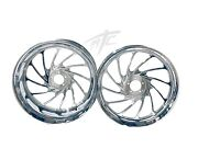 Stock Size Chrome Turbo Wheel Package For 2015-2020 Yamaha Yzf R1