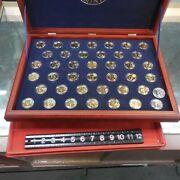 Franklin Mint The Presidential Coin Collection And Wooden Box Washington--reagan