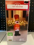 Christmas Toy Soldier Inflatable 4and039 Tall Nib