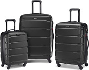 Samsonite Omni Pc Hardside Expandable Luggage With Spinner Wheels, Black, 3-piec
