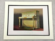 1862 Print Upright Piano Wright And Mansfield Victorian Antique Chromolithograph