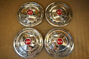 1957 Chevrolet Deluxe Spinner 14 Wheel Cover Hubcaps Bel Air Convertible Nomad