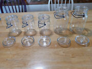 5 Vintage Atlas E-z Seal Clear Glass Canning Jars With Lids- 2 Quart And 3 Pint