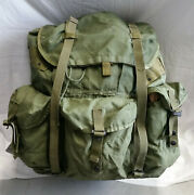 Complete Vintage Large Us Military Lc-1 Alice Pack W/ Frame, Straps, Kidney Pad