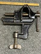 """Rare Vintage P S And W Pexto 2"""" Clamp On Vise All Original Finish"""