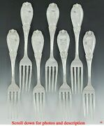 7 And Co Grecian 1862 Sterling Silver Dinner Forks 7 5/8