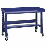 Shureshopand174 Mobile Bench W/acc Kit Painted Steel Top 72x34 St.louis