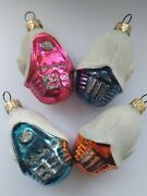 Vintage Ussr Russian Christmas Xmas New Year Glass Ornaments House