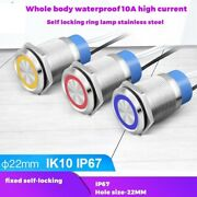 Self Locking Metal Push Button Switch Waterproof 10a Current Ring Lamp Equipment
