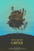 Howls Moving Castle Anime Silk Painting Wall Art Home Decor - Poster 24x36