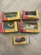 5 Matchbox Models Of Yesteryear Vintage Toy Cars Boxed