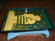 Mary Beth Baxter Dept. 56 Holiday Snowman Serving Tray Wrapped Wood