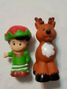 Fisher Price Little People Christmas Replacement Reindeer And Elf