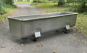 Stainless Steel Heavy Gauge Dough Trough On Casters 99x29