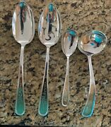 S. Kirk And Sons Golden Calvert Sterling Silver 4 Serving Pieces New Out Of Bags