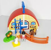 Playmobil Take Along Horse Farm Set Stable Barn Complete Excellent 1-2-3