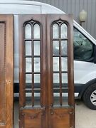 An658 Pairs Antique Gothic French Doors 40 X 83.75 X 1 7/8