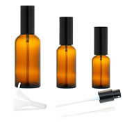 Amber Glass Spray Bottles Mist Spray Bottles Liquid Cosmetic Containers With Bl