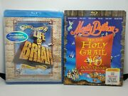 Life Of Brian New + Monty Python And Holy Grail Blu-ray+slip Cover, Like-new