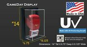 Ez Framed Acrylic Wall Mount Vertical Boxing Glove Display Case Uv Protecting