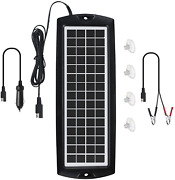 Sunway Solar Car Battery Trickle Charger And Maintainer 5w Solar Panel Power 12v