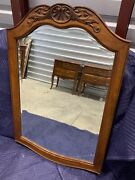 Ethan Allen Country French Carved Mirror Birch Beveled 26-5240 216 Bordeaux