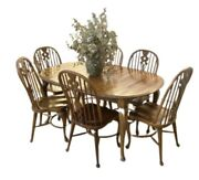 Rare Ethan Allen Old World Treasures Dining Set Table W/leaves And 6 Chairs