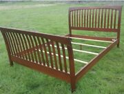 Ethan Allen American Impressions Queen Sleigh Bed Cherry 24-5640 Finish 224