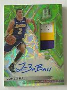2017-18 Spectra Neon Green Prizm Lonzo Ball Rpa Rc 3-color Patch Auto 38/49