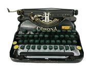 Vintage Antique Corona Four Portable Black Typewriter No Case For Parts/untested