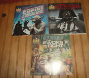 Vintage 3 Star Wars 24 Page Read Along Book And Record Empire Strikes Back