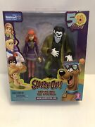 Scooby-doo Daphne And The Wolfman Action Figures 5 50th Anniversary Set A1