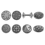 Pack Of 8 Retro Norse Viking Symbol Brooch Wiccan Cloak Shawl Pins Jewelry
