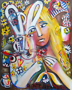 Auguste Blackman The Vow - Original Signed Painting On Canvas Alice Wonderland