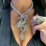 Natural Rosecut Diamon 925 Silver Antique Wedding Necklace Ring Jewelry