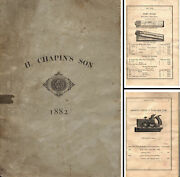 H. Chapin's Son Company - 1882 General Line Catalog - 80 Pages