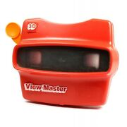 Viewmaster Model L Stereo 3d Viewer With Reel Vintage Toy In Red