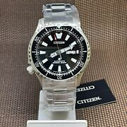 Citizen Ny0130-83e Automatic Stainless Steel Bracelet Analog Diver's Watch