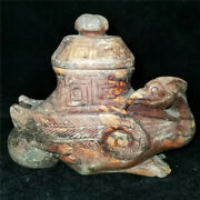 Chinese Natural Jade Jadeite Hand-carved Collectibles China Art Phoenix Incense