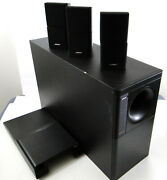 Bose Acoustimass10 Series Home Theater Speaker System 3 Double Cubes And Oem Cable