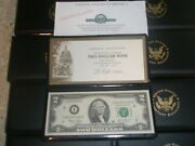 12 -us Monetary Exchange 2003 2 Two Dollar Note With Presentation Folders