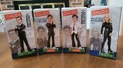 """4 Chuck Tv Collectible """"buy More"""" Figures 2012 Online Exclusive Nbc Store Rare"""