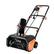 Snow Thrower 18 Inch Electric Snow Blower 13 Amp Steel Auger 180anddeg