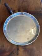 """Jos. Heinrichs Copper/sterling Silver Round Frying Pan W/ Wooden Handle 12 3/4"""""""
